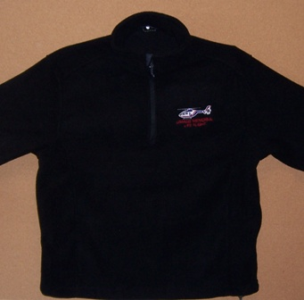 1/4 ZIP FLEECE PULLOVER (BLACK)