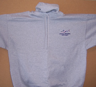 HOODED COTTON SWEATSHIRT (GREY)