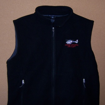 FULL-ZIP FLEECE VEST (BLACK)